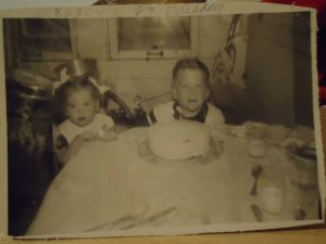 My mom and her brother - the early years.