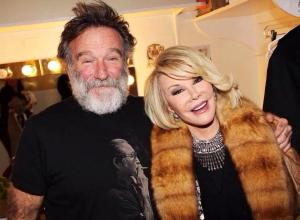I love this photograph- no, Joan Rivers didn't have substance abuse problems- but Robin Williams did.