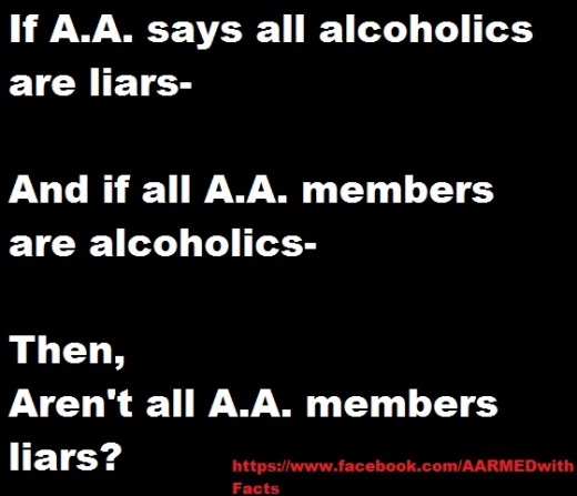 """Not all people with drinking problems are liars- they might lie to get the """"next drink"""" but their basic personalities are not liars."""